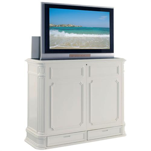 View a large image of the TV Lift Cabinet Crystal Pointe XL Lift for 40-52 inch Screens White AT004873-W here.