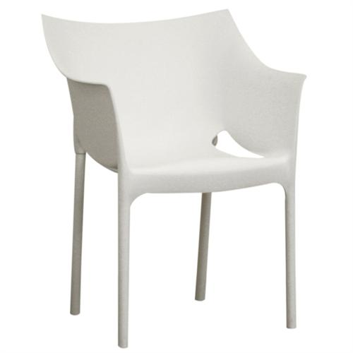 View a large image of the Wholesale Interiors Set of Two White Side Chairs White DC-58-WHITE here.