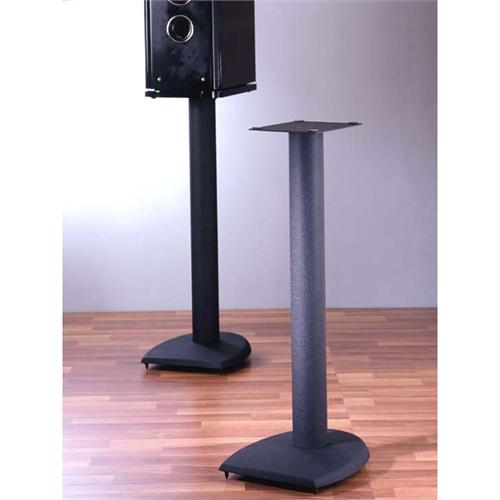 View a large image of the VTI DF Series 24 inch Cast Iron Speaker Stands Black DF24B here.