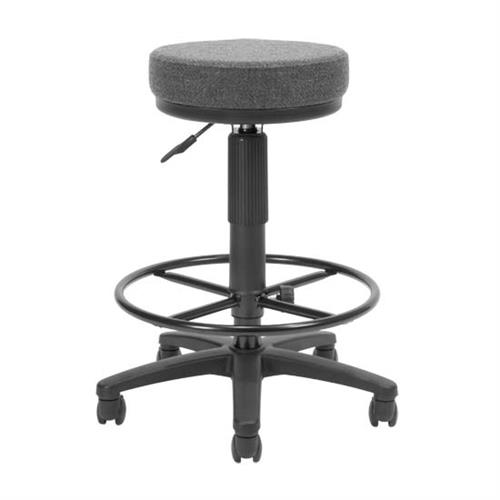 View a large image of the OFM UtiliStool Computer Stool With Drafting Kit Gray 902-DK-131A here.