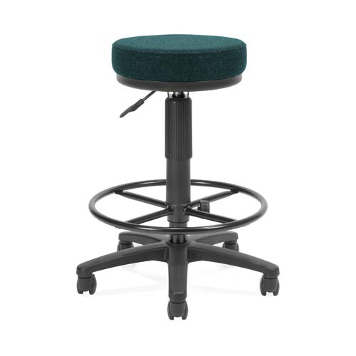 View a large image of the OFM UtiliStool Computer Stool With Drafting Kit Teal 902-DK-452 here.