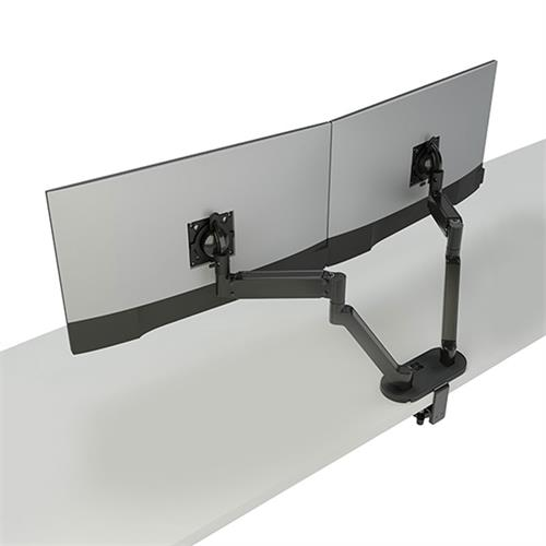 View a large image of the Chief Koncīs Monitor Arm Mount (Dual, Dynamic, Black) DMA2B.
