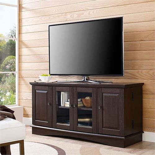 View a large image of the Walker Edison 55 inch TV Console with Media Storage Espresso WQ52C4DRES here.