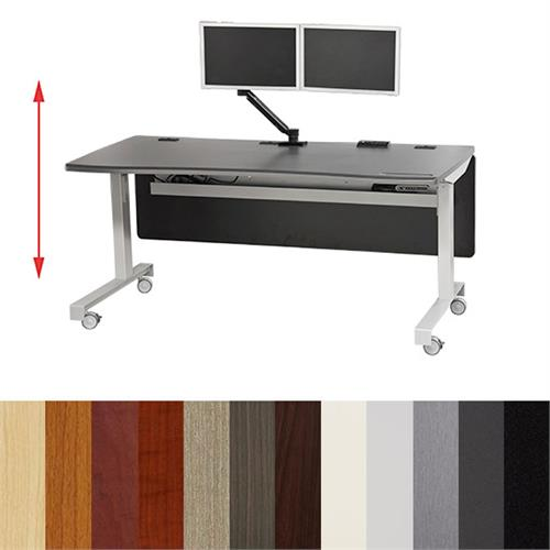 View a large image of the Audio Visual Furniture ADA Compliant Electric Lift Sit or Stand Desk DS6330-LFT here.