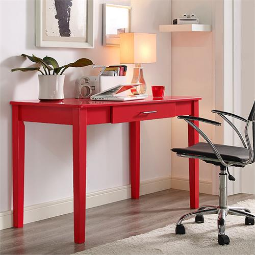 View a larger image of the Walker Edison Midtown Wood Writing Desk (Red) DW48MWDRD.