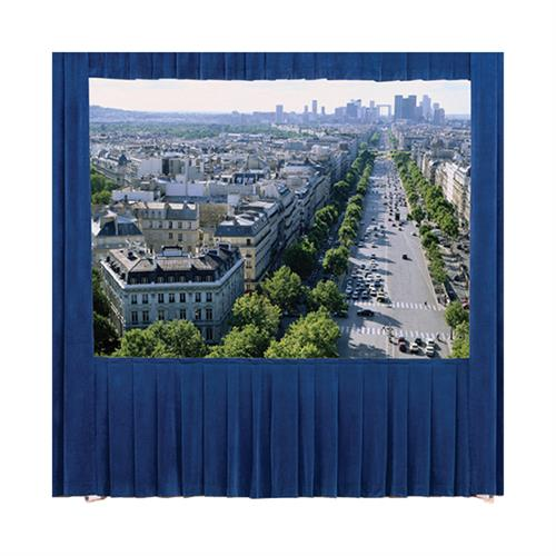 View a larger image of the Da-Lite 36641BU Fast-Fold Truss Drapery Kit (Blue Drapes, 16:9, 13x22-4, 294 Inch).