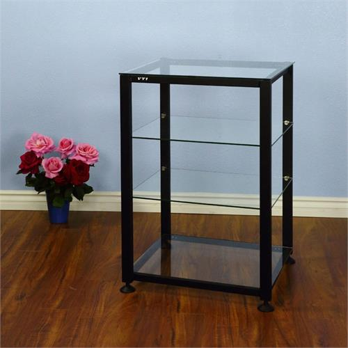 View a large image of the VTI EGR Series 4 Shelf Audio Rack with Glass Shelves Black EGR404B here.