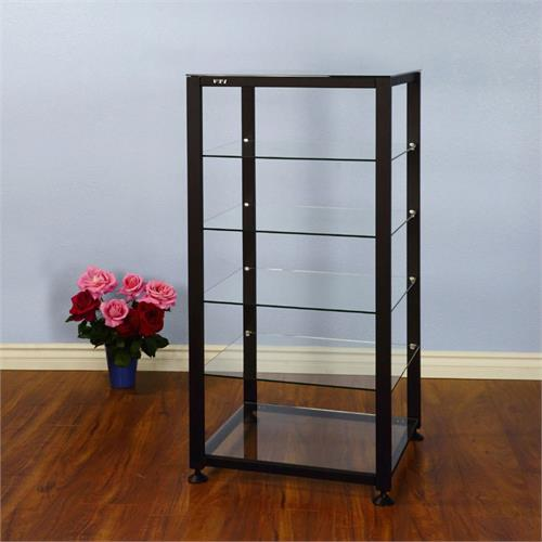 View a large image of the VTI EGR 6 Shelf Audio Rack with Glass Shelves Black EGR406B here.