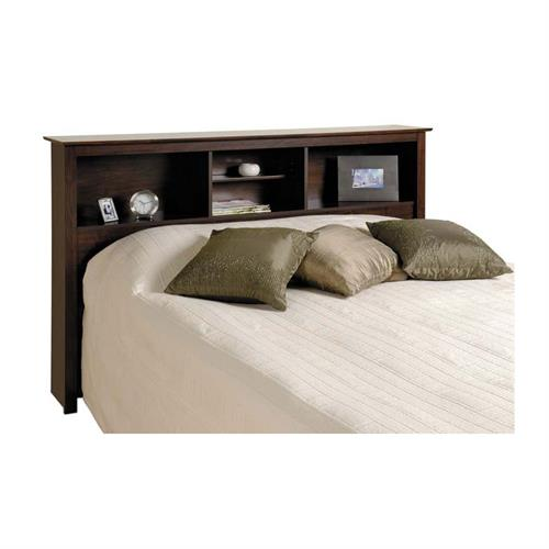 View a larger image of the Prepac Manhattan Bedroom Collection Double Queen Headboard Only (Espresso) ESH-6643.
