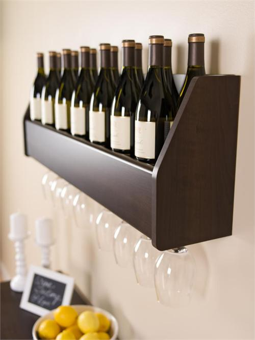 View a large image of the Prepac Wall Mounted Floating Wine Rack Espresso ESOW-0200-1 here.
