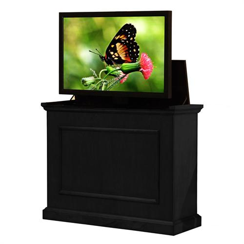 View a large image of the Touchstone Elevate End of Bed or Anyroom Theater Lift Cabinet for 24-46 inch Screens Black 72011 here.