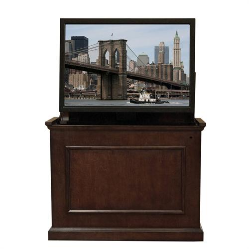 View a large image of the Touchstone Elevate End of Bed or Anyroom Theater Lift Cabinet for 24-46 inch Screens Espresso 72008 here.