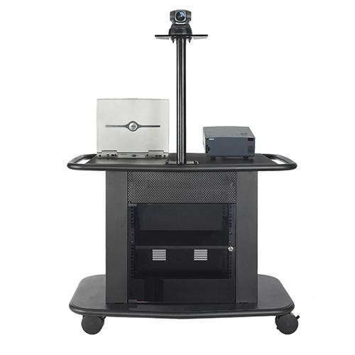 View a larger image of the AVTEQ Learning Series Rack Mount Overhead Projector Cart (Black) GM-200P.