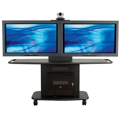 View a large image of the AVTEQ Corporate Series Multimedia Cart for Single 65 inch Screen Black GMP-200L-TT1 here.