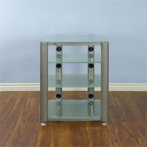 View a larger image of the VTI 4 Shelf Audio Video Rack (Silver Frame, Frosted Glass) HGR404SF here.