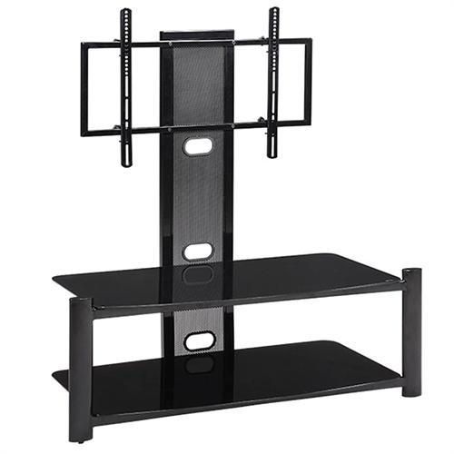 View a large image of the Haropa 46 in. TV Stand with Integrated Mount Black Glass HPO1346B here.