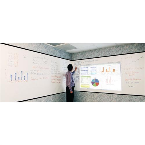 View a large image of the Elite Screens Intsa-DE2 Wall Covering Dry Erase Whiteboard Projection Screen INSTA2-IW here.