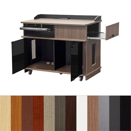 View a large image of the Audio Visual Furniture Mobile Instructor Podium IPVP7 here.