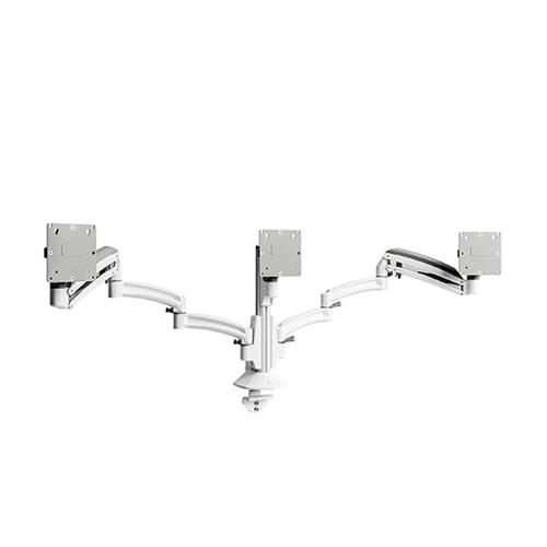 View a large image of the Chief Kontour Triple Screen Dynamic Column Desk Mount White K1C330W here.