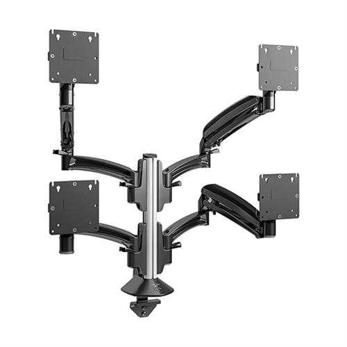 View a large image of the Chief Kontour Quad 2x2 Dynamic Column Desk Mount Black K1C420B here.