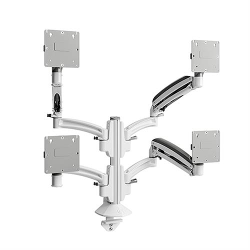 View a large image of the Chief Kontour Quad 2x2 Dynamic Column Desk Mount White K1C420W here.