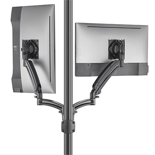 View a large image of the Chief Kontour Dynamic Pole Mount Reduced Height, 2 Monitor, BLK, K1P220BXRH here.