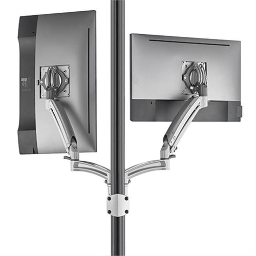 View a large image of the Chief Kontour Dynamic Pole Mount Reduced Height, 2 Monitor, SLV, K1P220SXRH here.
