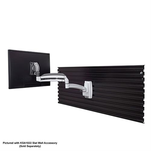 View a large image of the Chief Kontour Single Screen Dynamic Slat Wall Mount White K1S120W here.