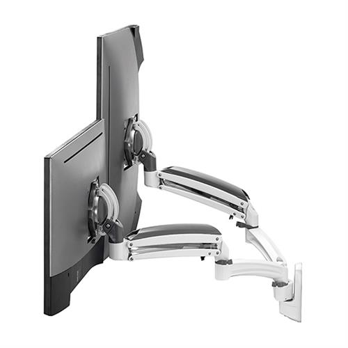 View a large image of the Chief K1W220WXRH Kontour Reduced Height Dual Screen Dynamic Wall Mount here.