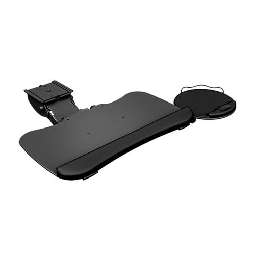 View a large image of the Chief KBD-MINI-19T Mini Arm Keyboard Tray Swivel Mouse Tray here.