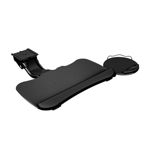 View a large image of the Chief KBD-S2S-19T Sit Stand Arm Keyboard Tray Swivel Mouse Tray here.