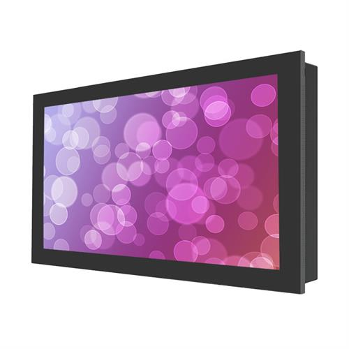 View a large image of the Peerless Indoor Landscape In-Wall Kiosk Enclosure for 43 inch Screens Black KIL743 here.