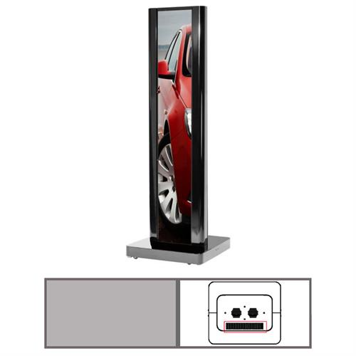 View a large image of the Peerless KIP586-1LG-S One-Sided Silver Ultra Stretch Portrait Kiosk here.