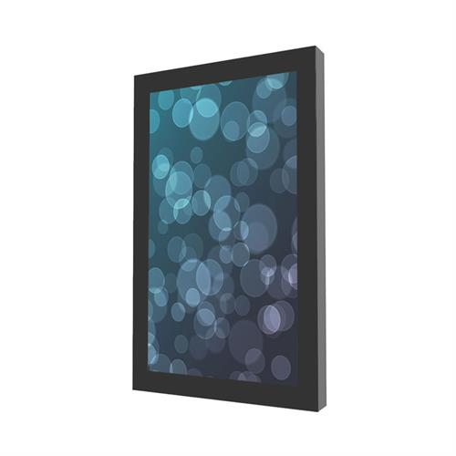 View a large image of the Peerless Indoor Portrait Wall Kiosk Enclosure for 43 inch Screens Black KIP643 here.
