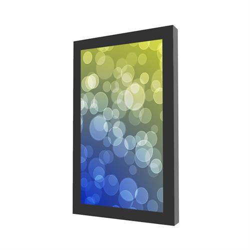 View a large image of the Peerless KIP648-35D Indoor Black 48 inch On-Wall Portrait Kiosk here.