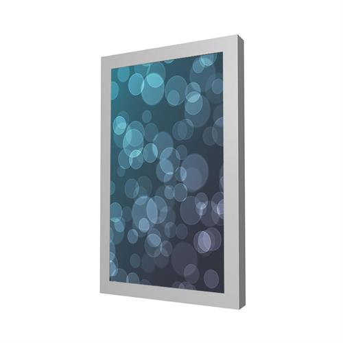View a large image of the Peerless Indoor Portrait Wall Kiosk Enclosure for 43 inch Screens Silver KIP643-S here.