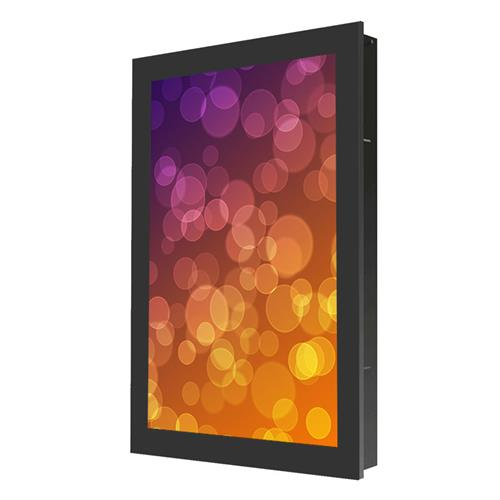 View a large image of the Peerless Indoor Portrait In-Wall Kiosk Enclosure for 48 inch Screens Black KIP748 here.