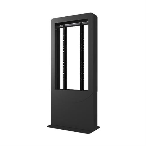 View a large image of the Peerless KIPC2555B Indoor Black 55 inch Back to Back Portrait Kiosk here.