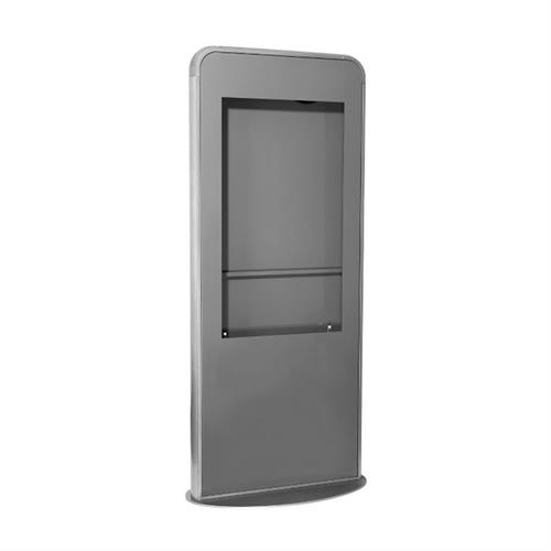 View a large image of the Peerless KIPC547-S Silver Indoor Portrait Kiosk for 47 inch Screens here.