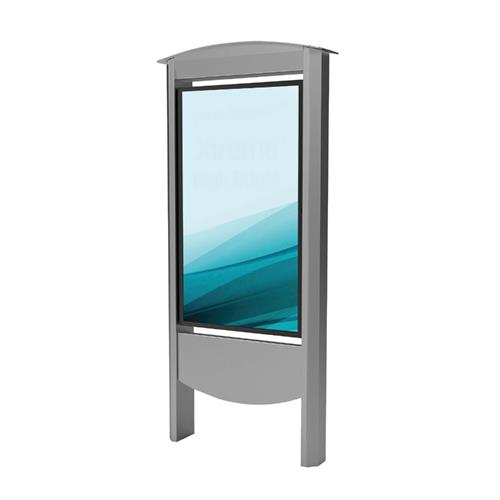View a large image of Peerless Xtreme Outdoor Smart City Kiosk (55 inch, Silver) KOP2555-S-XHB.
