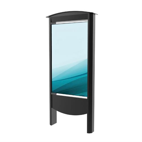 View a large image of Peerless Xtreme Outdoor Smart City Kiosk (55 inch, Black) KOP2555-XHB.