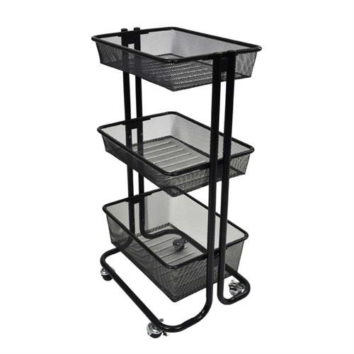 View a large image of the Luxor Home Storage Cart Black KUC-BK here.