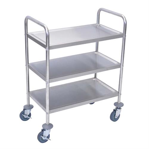 View a large image of the Luxor Three Shelf Stainless Steel Lightweight Cart L100S3 here.
