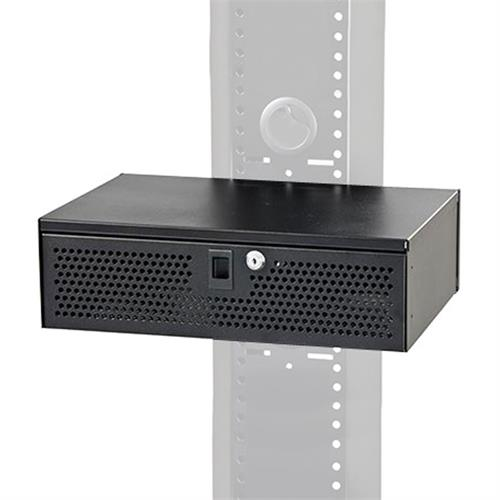 View a large image of the Audio Visual Furniture - VFI Electronics Lockbox for PM-S-FL or Standard Rack Mount Black LB3 here.