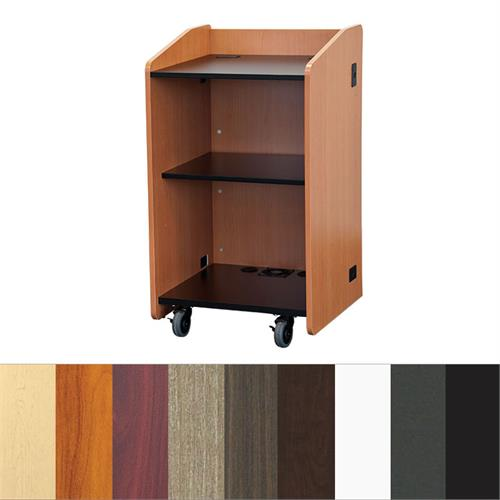 View a large image of the Audio Visual Furniture Open Flat Top Lectern LE3060 here.