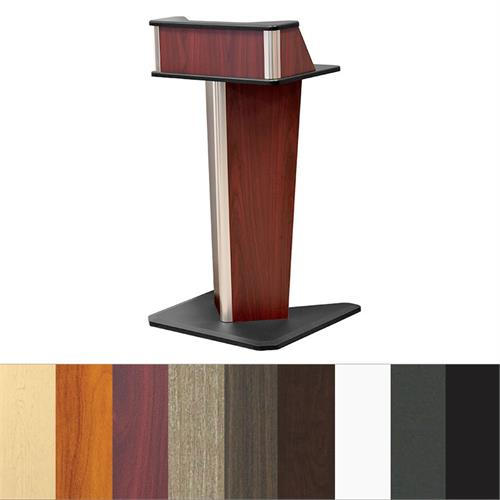View a large image of the Audio Visual Furniture V Shaped Presentation Lectern LE4001 here.
