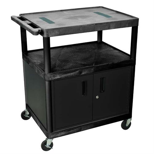 View a large image of the Luxor 40 inch Endura Table with Cabinet Black LE40C-B here.