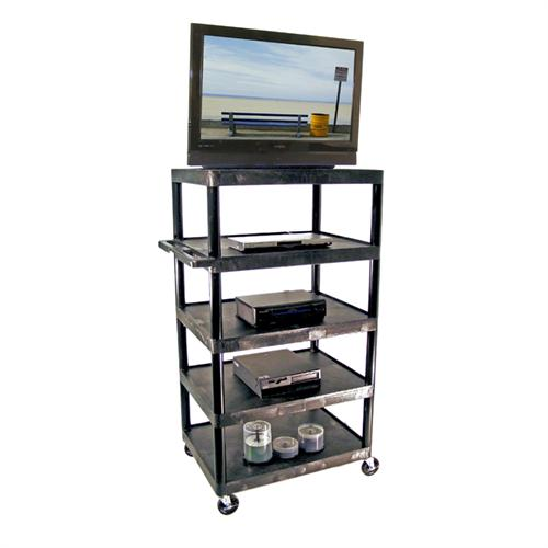 View a larger image of the Luxor 60 inch Endura Table with 5-Shelves (Black) LE60-B.