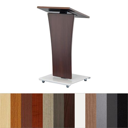 View a large image of the Audio Visual Furniture LEXYZ20-C Curved Lectern here.