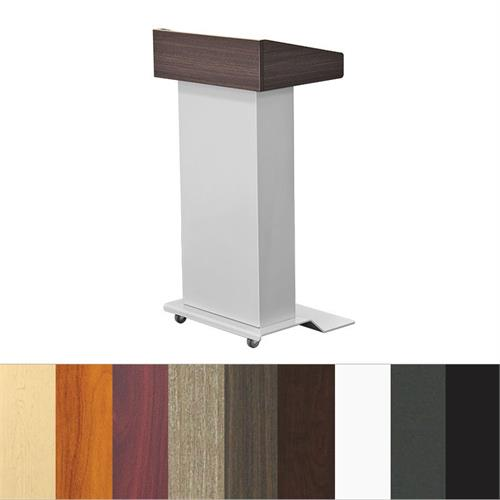 View a large image of the Audio Visual Furniture LEXYZ27 Modern Mobile Lectern Various Finishes here.
